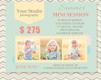 Mini Session - Photography Marketing Template - Summer Mini Session 019 - C064, INSTANT DOWNLOAD