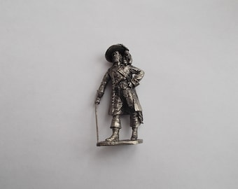 Captain Hector Barbossa Pirates of the Caribbean Tin Metal Soldier collection handmade Figure 1/32 scale