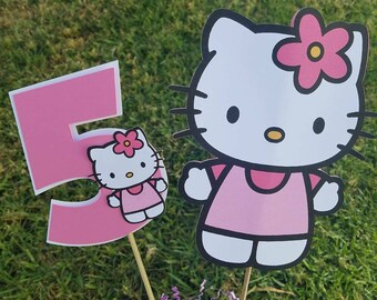 Hello kitty party, Hello kitty centerpiece, Hello Kitty theme, Hello Kitty decorations