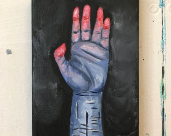Recovery - Acrylic Hand Study