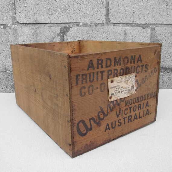 Pears Crate Pine Box Rustic Storage Display
