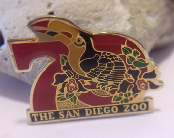 The San Diego Zoo Pin Vintage Toucan Collectible Souvenir Jewelry Accessories