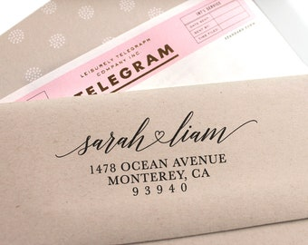 Return Address Stamp, Custom address stamp, Self Inking Stamp, Wedding Stamp, Save The Date, Wedding Invitation, Rubber Stamp, Calligraphy