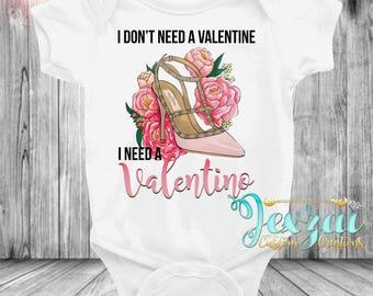 Valentino Onesie | Valentines Shirt Onesie | Baby Girl Clothing | Luxury Inspired Onesie
