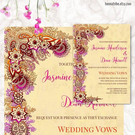 Indian Wedding Invitation Printable Wedding Cards Wedding