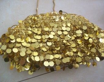 Vintage gold evening bag, vintage evening bag, vintage clutch