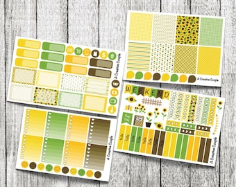 Sunflower Weekly Kit Planner Stickers