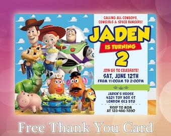 Toy Story Invitation / Toy Story Birthday Invitation / Toy Story Woody invitation / Buzz invitation / Toy Story Printable Invite / TS12