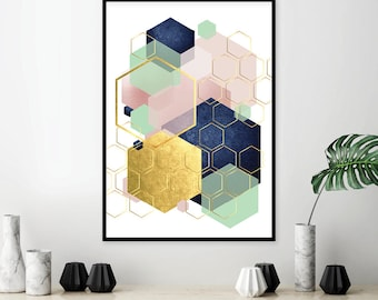 Printable Art, Trending Art, Downloadable Print, Geometric, Abstract,  Scandinavian, Print Awesome Design