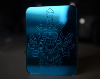 Small Warcraft Warrior Class Acrylic Etched Charm