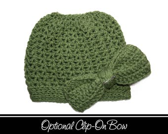 Green Messy Bun Hat, Green Ponytail Hat, Green Tea, Tobaggan Hat, Messy Bun, Pony Hat, Messy Bun Beanie, Crochet Bun Hat, Messy Ponytail Hat