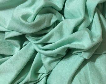 Silky Micro Modal 4 ways Spandex Jersey Knit Fabric Eco-Friendly MINT 9.5 oz