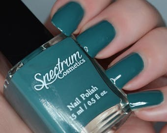 NIGHT OWL Dark Teal Green  Nail Polish