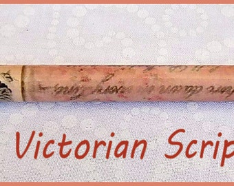 "Victorial Script Kraft-i Roller - Paper Bead Roller / Tool from the Original Collection 1/8"" or 3/32"" Tutorial Included"