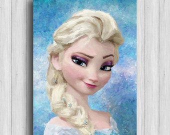 Frozen Elsa poster disney princess decor elsa art disney painring frozen gifts