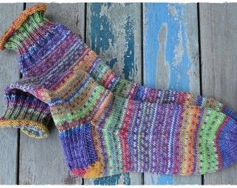 Socken Gr.39, handgestrickt aus OPAL Sockenwolle - HappyScrappyStile