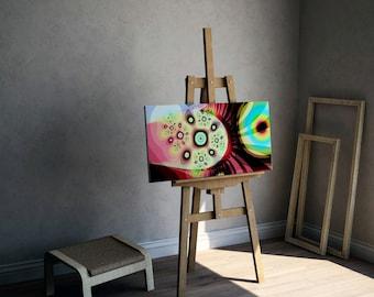 Colorful Abstract Art Canvas, Microscopic Photo, Abstract Art Print, Wall Decor, Sodium Nitrate
