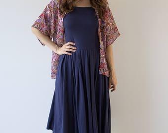 Purple Paisley Printed Standard Kimono // Women's // Printed Kimono Jacket // Gifts For Her //Handmade// Size 6-8