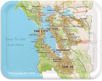 """San Francisco Bay Area 17""""x13"""" Tray according to Urban Dictionary"""