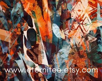 Warm fall colors art print home decor wall decor desk decor abstract art print