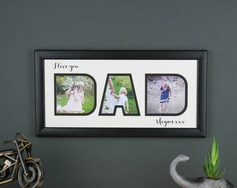 Dad photo frame, personalised Father's day gift, gift for dad,  Dad photo gift, I love you Dad, We love you Dad, Daddy gift.