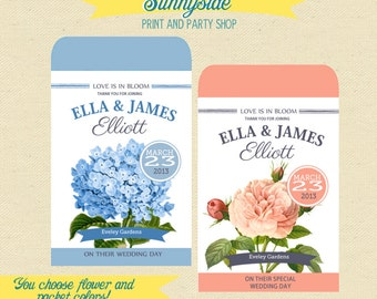 CUSTOM Printable Seed Packet Favor  - DIY - Wedding / Bridal Shower / Baby - Seed Favor