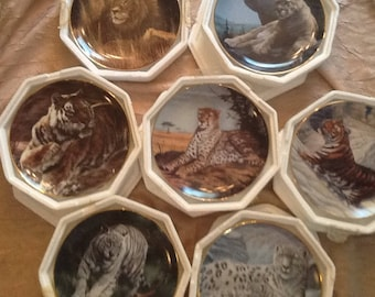 Set Of 7 National Wildlife Federation Collectable Plates. These Are Numbered And Are Limited editions/Fine Porcelain