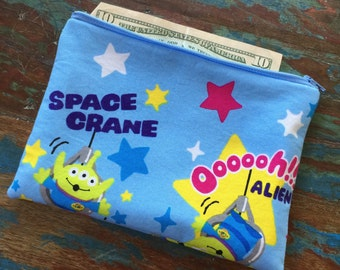 SALE medium zipper pouch toy story I