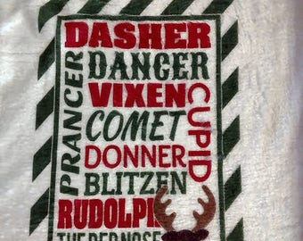 Personalized Baby's first Christmas Snuggle blankie