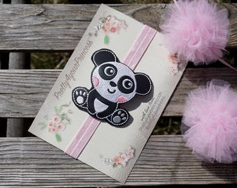 Panda Headband baby headband panda hair bow clip baby girls hair accessories