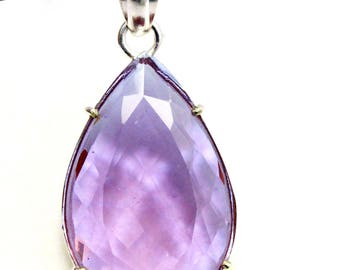 62.50Ct Certified Attractive Alexandrite Pendant 925 Solid Sterling Silver AU3940
