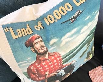 Minnesota Paul Bunyan pillow