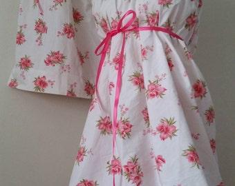 Mother Daughter Matching Dresses Mommy & Me Dresses Matching Outfits Summer Dresses Floral Dresses. Vintage rose Mom Baby vintage dresses