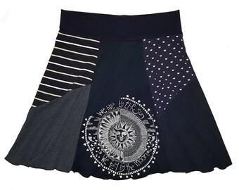 Plus Size Clothing Navy Mandala Skirt Women's 1X 2X Boho Upcycled Top Selling Items Twinkle Skirts Top Sellers Best Selling Shop Twinklewear