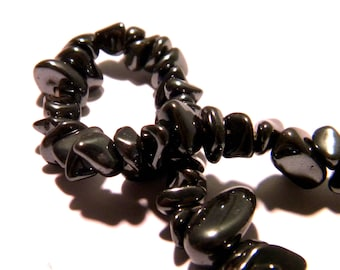20 beads chips nuggets 5-8 mm - hematite-black gems stones 1 G43 nuggets
