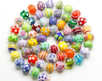 ready to ship Margo lampwork color beads set (60)