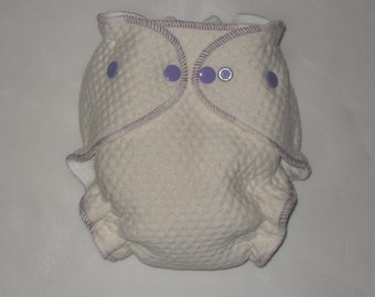 Zorb 2 Fitted diaper with purple swirl thread