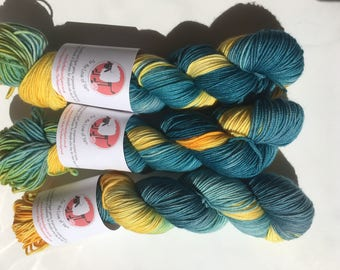 HARRY POTTER THEMED yarn - available in both sock weight & dk merino yarn, Ravenclaw themed hand dyed colours.
