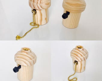 lamp holder wood