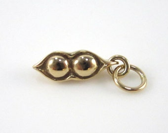 Natural Bronze Two Peas in a Pod Charm