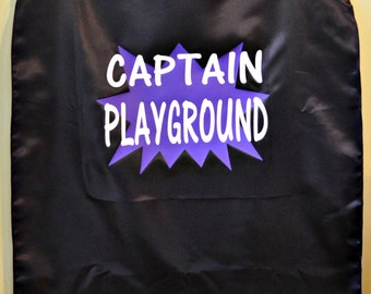 Adult Custom Superhero Cape with 1 or 2 words plus shape!