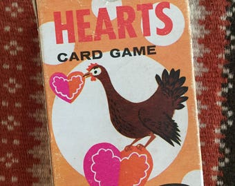 HEARTS!!!!  Vintage Hearts Game - Whitman 1963 - Valentine Party -  Hearts Card Game - Children's game - Family card game - Playing cards