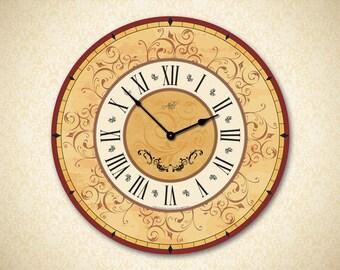 Large Wall Clock. Wall Clock. Customized Clock. Kitchen Clock. Rustic Wall Decor. Rustic Wall Clock. 14in