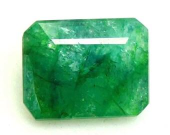 11.50Ct Certified Natural Top Class Emerald Cut Green Emerald Loose Gemstone ET86