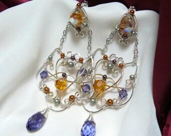 Swarovski Crystal Earrings ~ Swarovski Chandelier ~ Elaborate Chandelier Earrings ~ Crystal Chandelier ~ Ornate Jewelry ~ Ornate Chandelier