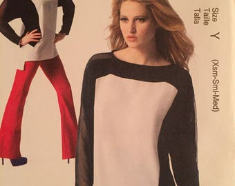 McCall's Sewing Pattern M6798 - Fashion Star - Top - Easy - Size XS, S, Medium - Uncut Pattern - Fashionable Style
