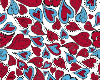 Leaf Decopatch 30 x 40 cm - distorted hearts N 567 - Ref FDA567 - until the stock!