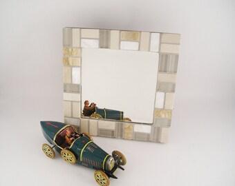 Espejo Mosaico 20x20  Glass Grecia VertHoriz Espejo Pared Espejo Sobremesa Decorativo Dormitorio Juvenil Decoración del Hogar  Chocolate