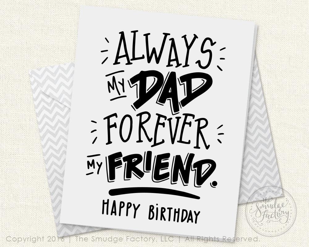 Punchy image pertaining to printable dad birthday cards
