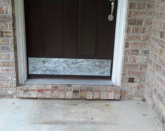 Galvanized Metal Rustic Door Kick Plate Country Home Decor Cute